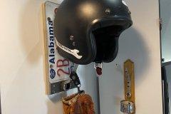 Hard Motos helmet hanger getting good use!