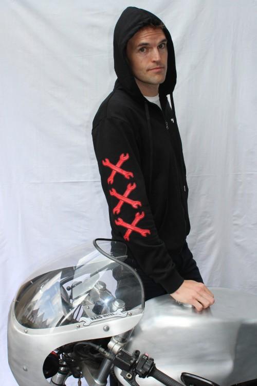 hoodies, gloves, bandanas