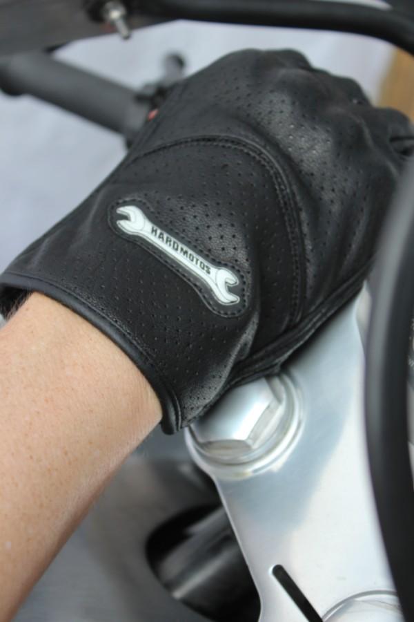 racing gloves, bandanas, sunglasses