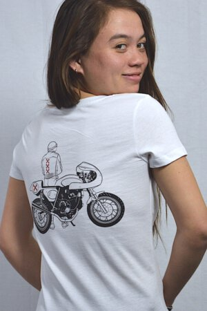 Ducati cafe racer – B&W & a touch of red