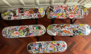 Handmade Skateboard Bench – Your butt lands on your favourite brands
