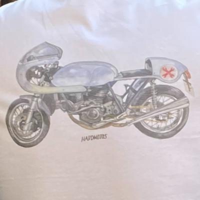 Ducati Cafe Racer t-shirt – Imola replica in watercolor