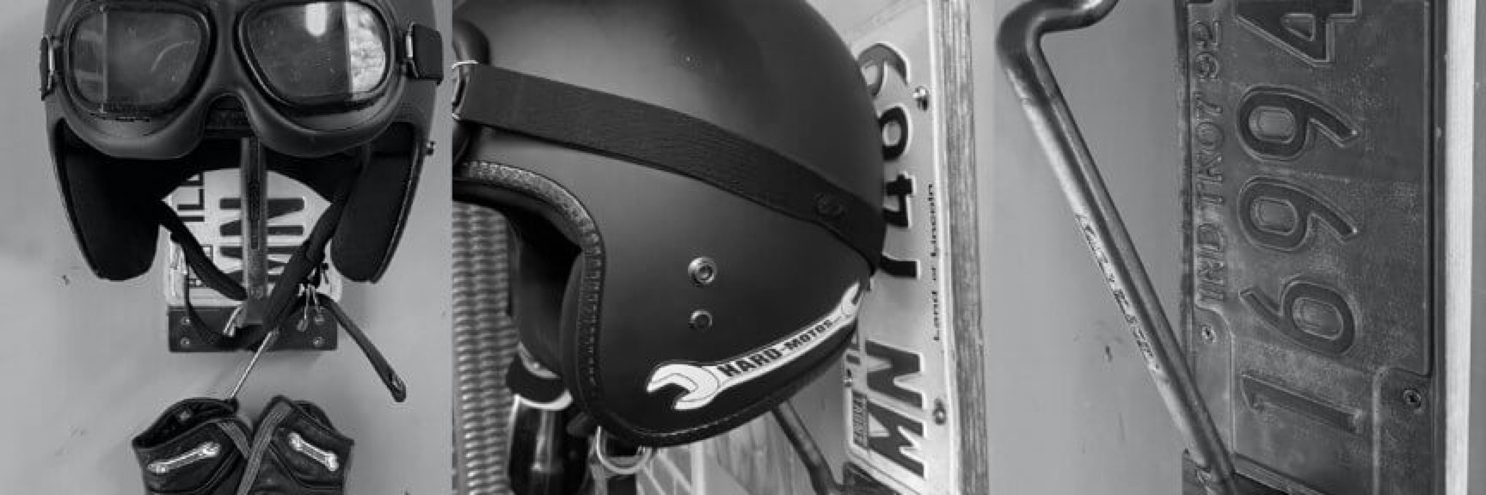 keep your helmet safe on this unique handmade wall-mounted holder!
